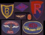1946-1965 ASC RATA Cluj - Set 7 embleme sportive brodate (4 mari + 3 mici)