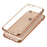 Husa E-TPU pentru Iphone 6, margine rose gold