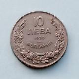 BULGARIA - 10 Leva 1930 - Boris III, Europa, Cupru-Nichel