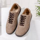 Pantofi Piele barbati casual bej Repemi