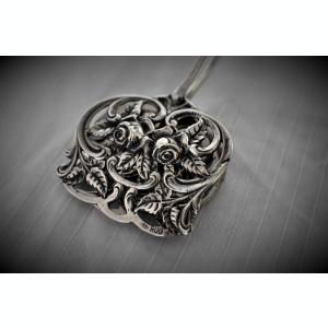 Cleste Argint pentru prajituri decor trandafiri marcaj Germania vechi 50 grame