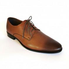 Pantofi barbati Francesco Ricotti  FR 346 piele naturala,culoare maro
