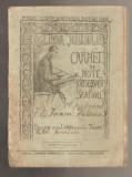 Carnet de note 1930