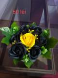 Aranjamente florale cu trandafiri din sapun preturi de la 25 lei