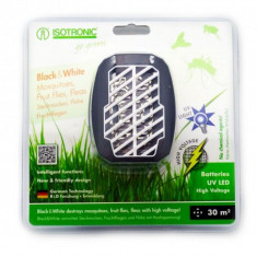 Dispozitiv portabil cu ultraviolete anti tantari, muste, purici, molii Black White 25160, Isotronic, 30 mp, 510022 ISG