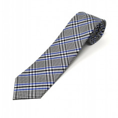 Cravata Matase Bleu In Carouri CR007-102