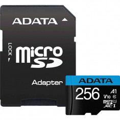 Card ADATA Premier MicroSDXC 256GB UHS-I U1 V10 25 Mbs cu adaptor SD