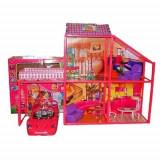 Casa pentru papusi MY LOVELY VILLA cu masina - OKAZIE, Multicolor