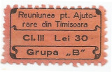 *Romania, lot 698 cu 1 timbru fiscal local, Timisoara, 1935, NG