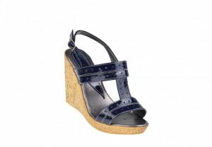 Sandale dama din piele naturala cu platforma de 10 cm S300LACBL