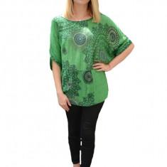 Bluza casual Ayla,design fashion,nuanta de verde