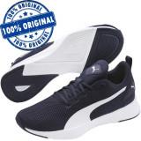 Pantofi sport Puma Flyer Runner pentru barbati - adidasi originali - alergare, 40, 42.5, 44, 44.5, 45, 46, Albastru, Textil