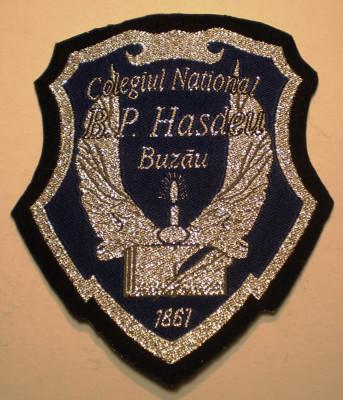 5.503 ROMANIA ECUSON COLEGIUL NATIONAL B.P. HASDEU BUZAU 90/78mm foto