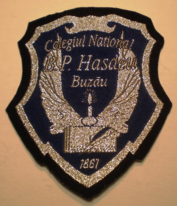 5.503 ROMANIA ECUSON COLEGIUL NATIONAL B.P. HASDEU BUZAU 90/78mm
