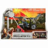 Set de joaca Jurassic World Motocicleta lui Owen Rip-Run cu functii