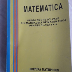Probleme rezolvate din manualul de matematica pentru clasa a X-a
