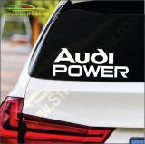 Audi Power -Stickere Auto-Cod:ESV-205 -Dim  20 cm. x 7.4 cm.