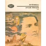 Proza literara, vol. 2 (Ed. Minerva)