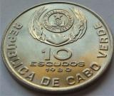 Cumpara ieftin Moneda exotica 10 ESCUDOS - CAPUL VERDE, anul 1980 *cod 1052 = UNC, Africa