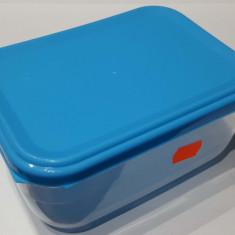Cutie pentru alimente 1.5 l, transparenta, capac albastru