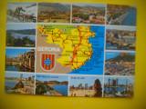 HOPCT 62397  GERONA SPANIA -HARTA  -STAMPILOGRAFIE-CIRCULATA
