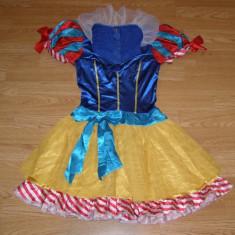 costum carnaval serbare alba ca zapada pentru adulti marime S
