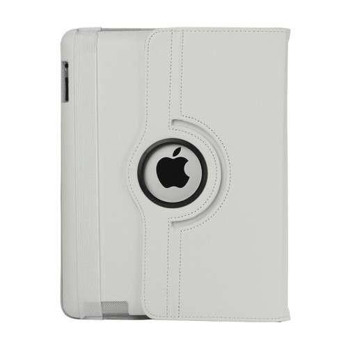 Husa Flip Cu Stand iPad 2 3 4 Rotire 360 De Grade Alba