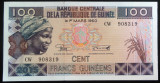 Bancnota EXOTICA 100 FRANCI - GUINEEA AFRICANA, anul 2015   *Cod 787 ---- UNC