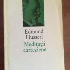 Meditatii carteziene- Edmund Husserl, Humanitas