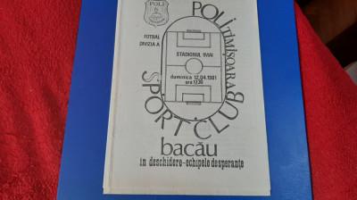 program Poli Timisoara - SC Bacau foto