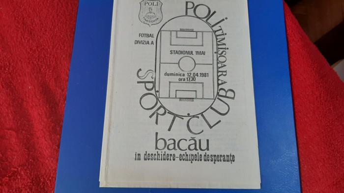 program Poli Timisoara - SC Bacau