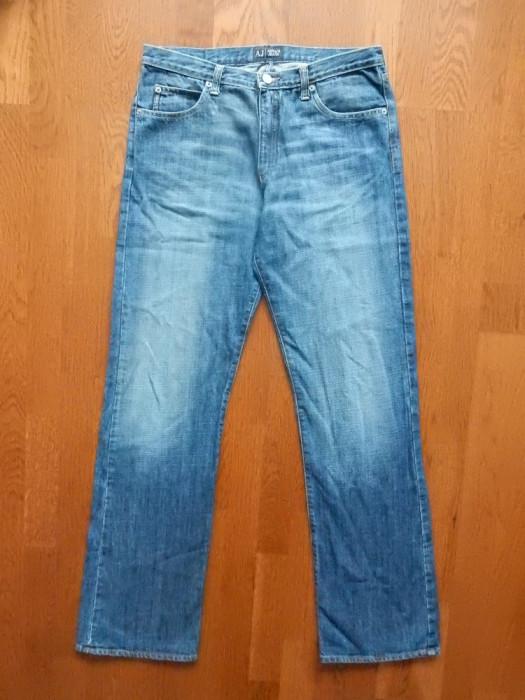 Blugi Armani Jeans Eco Wash Made in Italy. Marime 31, vezi dimensiuni;impecabili