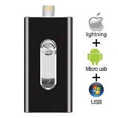 Unitate flash de stocare 64 GB MediaTek, Mini memorie USB Flash Drive Stick pentru iOS iPhone / iPad / Mac / Android / PC OTG Pendrive