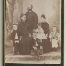 Fotografie pe carton : Familia Pop din Slatina - 1888