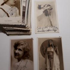 COLECTIE FOTOGRAFII VECHI CU DEDICATII - ACTORI TEATRUL NATIONAL CLUJ -ANII 1930