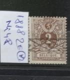 TS21 - Timbre serie Belgia 1882 Mi48, Stampilat
