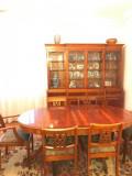 Mobila sufragerie lemn masiv de cires