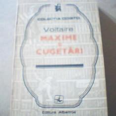 Voltaire - MAXIME SI CUGETARI { colectia ' Cogito ' } / 1974