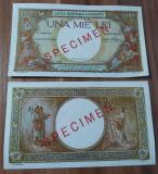 REPRODUCERE  bancnota specimen 1936-1000_leiRomania