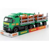 Trailer Powertruck cu remorca si lemne, Plastic, Wader