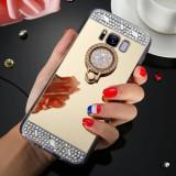 Husa silicon oglinda  cu inel Samsung Galaxy S8 / S8 Plus / S9 / S9 Plus, Alt model telefon Samsung, Argintiu, Auriu, Roz