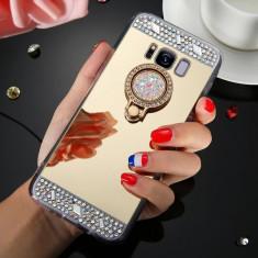 Husa silicon oglinda  cu inel Samsung Galaxy S8 / S8 Plus / S9 / S9 Plus