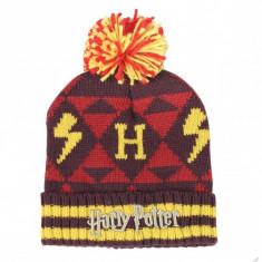 Caciula Cu Mot Harry Potter Hogwarts ,Marime Universala, Multicolor