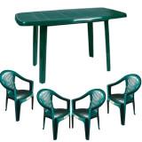 Set gradina masa MUTUM cu 4 scaune Carnaval culoare verde B001001 Raki