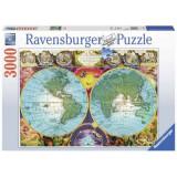 Puzzle Harta antica, 3000 piese, Ravensburger