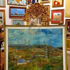 """Tablou, Roth Ioan, """"Peisaj din Baia Mare"""", ulei pe panza, 56x68 cm - Roth Ioan"""