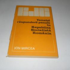 Ion Mircea- Temeiul raspunderii penale in Republica Socialista Romania,1987