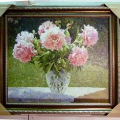Tablou pictat manual pe panza in ulei Vaza cu Flori A-165, Natura, Realism