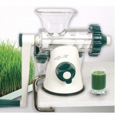 Storcator manual prin presare la rece Healthy Juicer green
