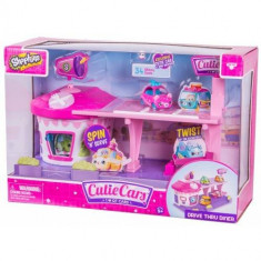 Jucarie Moose Toys Shopkins Cutie Cars Playset restaurant drive in